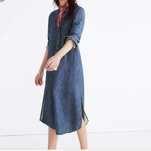 Madewell Denim Blue Shirt Dress Midi XS